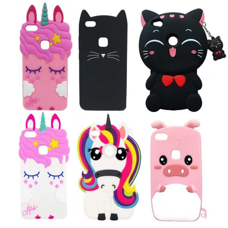 Phone Cases For Huawei P8 Lite 2017 & P9 Lite 2017 Cute 3D Cartoon Soft Silicon Case Cover For Huawei P8/P9Lite (2017) Phone Bag