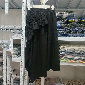 Liquidación perder dinero venta Balck falda cintura elástica mujeres QC002