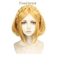 Game The Legend of Zelda: Breath of the Wild Princess Zelda Wigs Short Blonde Heat Resistant Hair Cosplay Wigs + Wig Cap