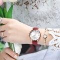 MEGIR женские модные кварцевые часы леди синий красный ремешок для часов повседневные часы водонепроницаемые простые наручные часы подарок д...