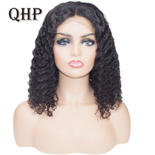 Human-Hair-Wigs Bob-Wigs Hairline Lace-Front Remy-Short Middle-Part Water-Wave Density