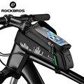 Велосипедная сумка ROCKBROS, водонепроницаемая посылка няя Велосумка для телефона, с седлом для сенсорного экрана 6,5 дюйма, велосипедные аксесс...