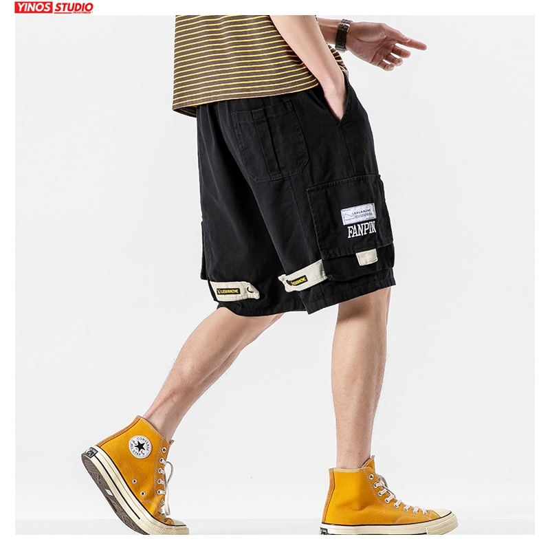 Dropshipping 2020 Men Streetwear Summer Shorts Men Korean Loose Japan Style Sweatpants Male Oversize Clothes Casual Shorts 5XL