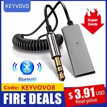 Aux Bluetooth Adapter Không Dây Xe Hơi Đầu Thu Phát USB Sang Jack 3.5Mm Âm Thanh Âm Nhạc Mic Cầm Tay Tự Động Loa Phát Cáp