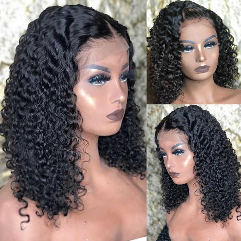 Peruaanse Krullend Vetersluiting Pruiken 4X4 5X5 6X6 Zwitserse Kant Frontale 150% Dichtheid Medium bruin Menselijk Haar Voor Vrouwen Remy Jarin Haar