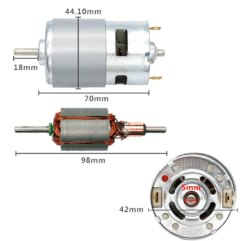12000RPM Singal Ball Bearing Shaft Motor 775 Replacement for Car Wash Pump Sprayer