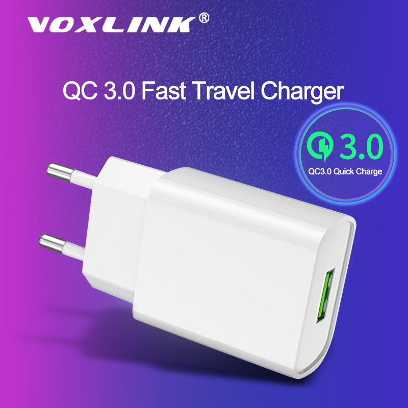 VOXLINK USB Charger 3.0 18 W Fast Phone Charger For IPhone X Xs 8 7 IPad Samsung Galaxy S8 S9 S10 Galaxy HTC Xiaomi Huawei Nexus