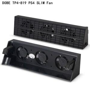 Image 2 - עבור Dobe PS4 Slim קירור מאוורר עומד TP4 831 קונסולת Cooler חכם בקרת טמפרטורה 3 אוהדי עבור Sony פלייסטיישן 4 PS4 slim פרו