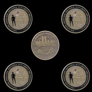 5 sztuk USA 11 września ataki honorujące pamiętanie pamiątkowe Token wyzwanie moneta USA
