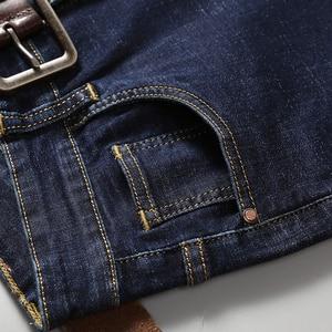 Image 5 - 2019 Nieuwe Mannen Klassieke Jeans Elastische Skinny Effen Kleur Denim Jean Mannelijke Blauw Slim Fit Broek Merk Kleding