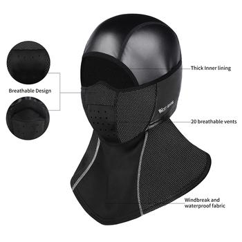 WEST BIKING zimowa maska kolarska na twarz utrzymuj ciepło wiatroszczelna maska narciarska czapka snowboardowa maseczka na twarz na rower akcesoria rowerowe tanie i dobre opinie CN (pochodzenie)