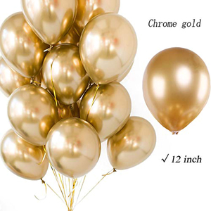 Image 5 - 128pcs Wholesale Gold Metallic Party Balloons 12 Inch Assorted Metal Chrome Alloy Latex Balloon for Birthday New Year Decoration