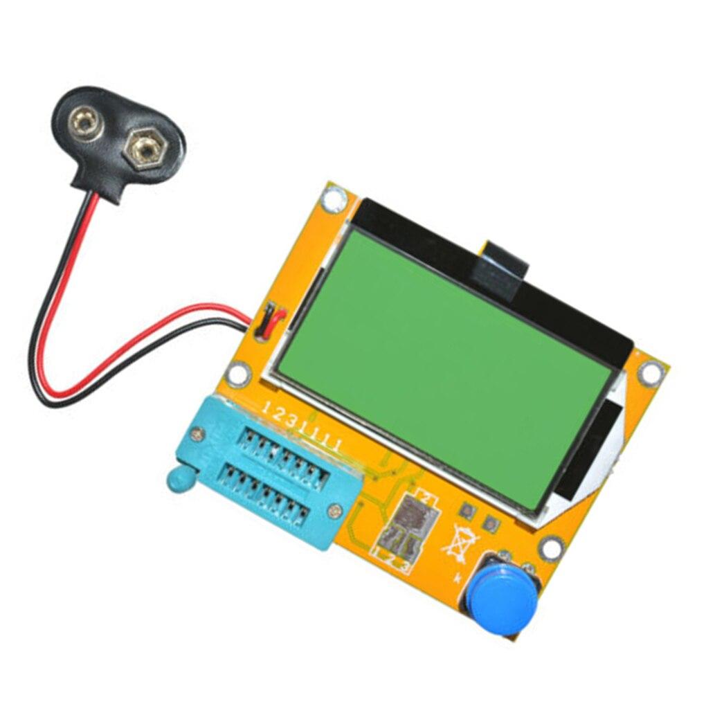 LCR-T4 СОЭ метр Mega328 прибор для проверки транзисторов 12864 ЖК-дисплей Экран Тестер Цифровой V2.68 ESR-T4 диодов и триодов, постоянной ёмкости, универс...