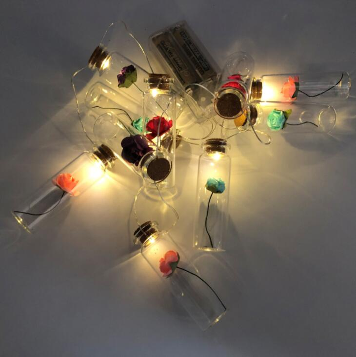LED Plastic Wish Bottle Brass Filament Lamp String Home Christmas Decoration Creative Gifts