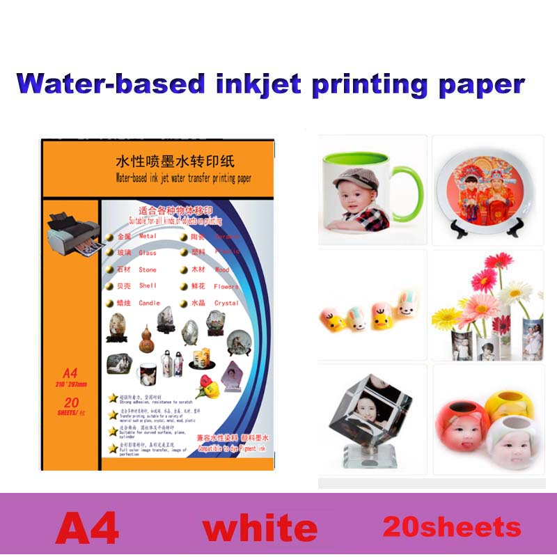 Inkjet Water Slide Decal Transfer Paper A4 Size DIY Nail Decal Transparent Color Printing Paper Inkjet Waterslide Decal Paper