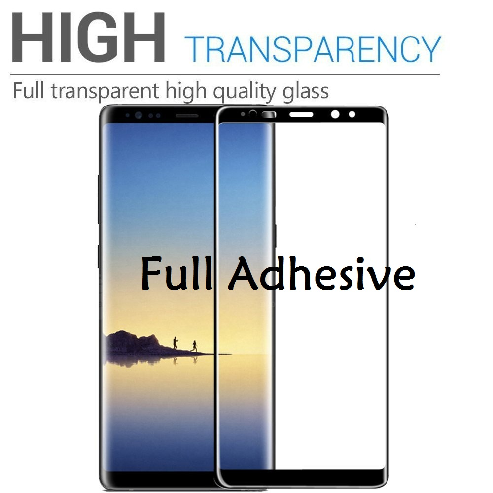 3D Full Glue Tempered Glass For Samsung Galaxy Note 10 10 Plus  Note 9 8 Screen Protector Case Friendly For Samsung Galaxy S10e 5G  S10 S9 S8 Plus Full Adhesive Glass