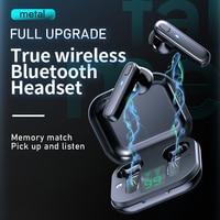 Auriculares TWS inalámbricos por Bluetooth 5,0, Mini auriculares estéreo HIFI con micrófono incorporado