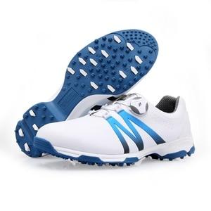 Image 2 - 2020 chaussures de Golf hommes boutons rotatifs boucle Golf baskets respirant Golf chaussures imperméable sport baskets hommes entraînement baskets