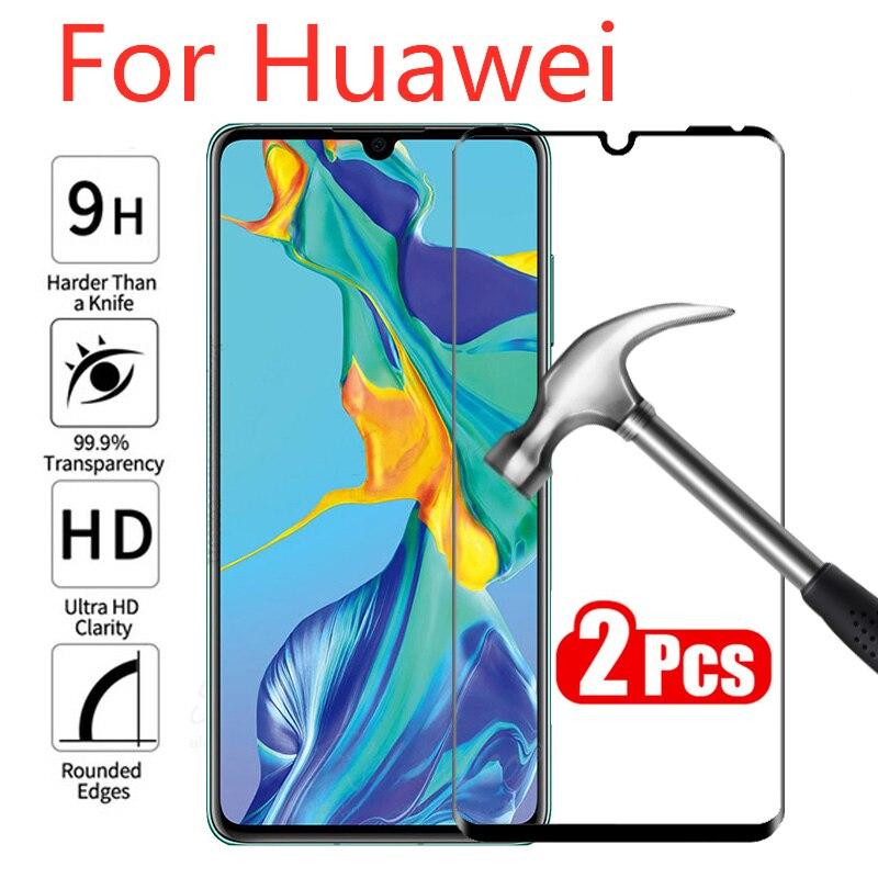 2Pcs Tempered Glass For Huawei P30 Lite P20 Pro Mate 10 Mate 20 Lite Screen Protector Glass On Huawei P40 Pro Nova 5t Glass