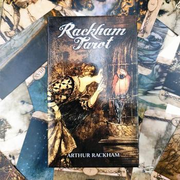 2020 New Rackham Tarot 78 Cards Tarot Deck For Teen Fun Tale Card Games Lovers For Playing Tarot Cards Entertainment Family Game