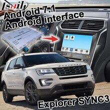 Android gps навигационная коробка для Ford Explorer и т. д. видео интерфейс синхронизации 3 Зеркало Ссылка Carplay четырехъядерный youtube waze gps Яндекс