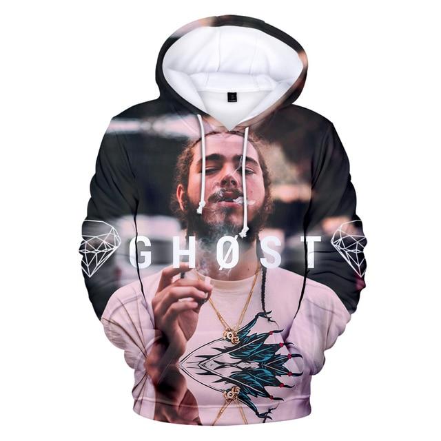 Post Malone 3D Ghost Printed Sweatshirts Hoodie 1