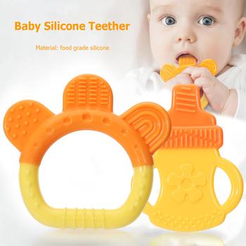 Gryzaki dla niemowląt gryzaki dla niemowląt gryzaki dla niemowląt gryzaki dla niemowląt gryzaki dla niemowląt gryzaki dla niemowląt prezent opieka stomatologiczna tanie i dobre opinie Silicone CN (pochodzenie) 3-6 miesięcy GEOMETRIC Baby Silicone Teether 7 8*8 5 Jednokrotnie załadowane smoczek Bez BPA