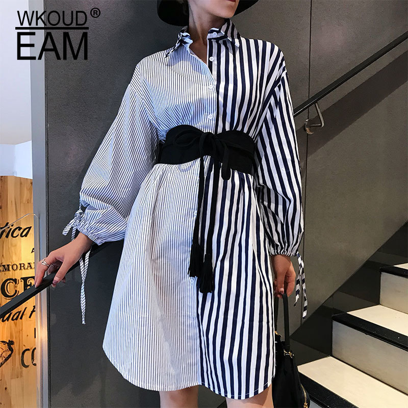 WKOUD EAM 2020 New Fashion Autumn Cummerbunds For Women Solid Tassel Lace-up Suede Classical Wid Corset Belt Casual Trendy ZJ910