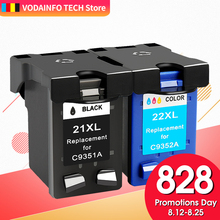 QSYRAINBOW Compatible 21 Black color Ink Cartridge Replacement for HP 21 22 HP21 for Deskjet F2280 F4180 F4100 F2100 F2200 F300 for hp21 22 printer ink href
