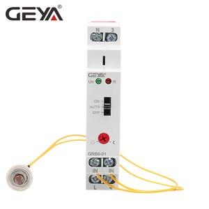 Image 2 - Ücretsiz kargo GEYA GRB8 01 alacakaranlık anahtarı sensörü ile AC110V 240V fotoelektrik zamanlayıcı ışık sensörü röle