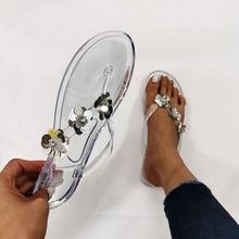 Slippers Summer Shoes Flip-Flops Flowers Flat Fashion Cool Craft EVA 40 41 Sequins Big-Size