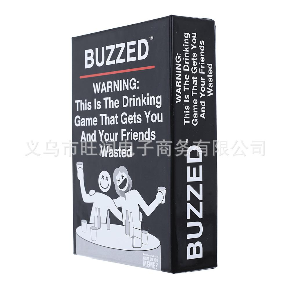 BUZZED Cards Board Games Drunk Cards English Edition Adult Party Games