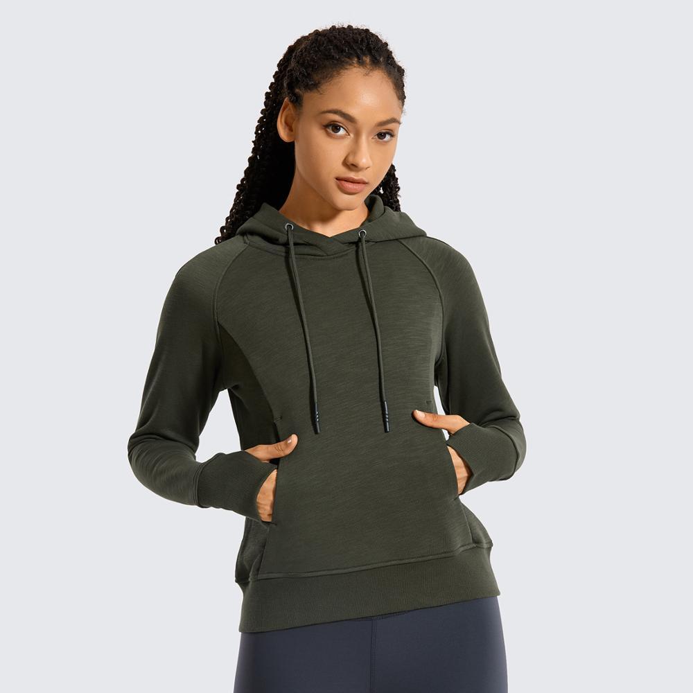 Women's Cotton Pullover Hoodies Drawstring Hooded Sweatshirt with Kangaroo Pocket Thumbholes