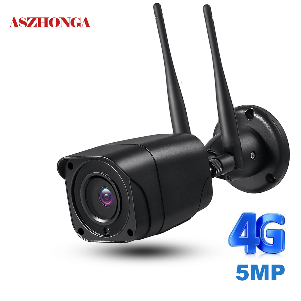 Wireless 4G SIM Card Wifi Security Camera 1080P HD Mini IP Camera Outdoor Bullet Cam IR Night Vision Surveillance