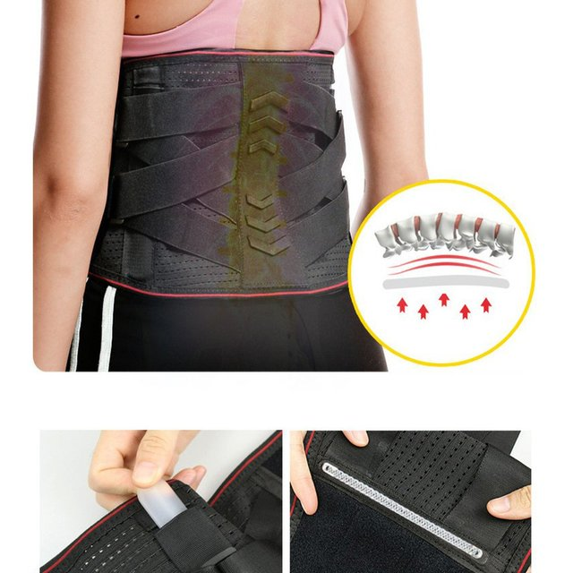 M-XL Hot Waist Band Gym Fitness Sports Exercise Waist Support Pressure Protector Body Building Belt Slim Item Sweat 4
