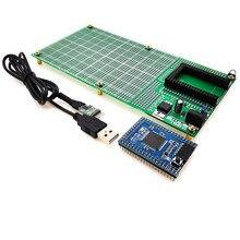 כפול צד אב טיפוס PCB טיפוס DIY 100x200mm 4.096V לarduino מגה מיני 2560 ATmega 2560 USB 2102