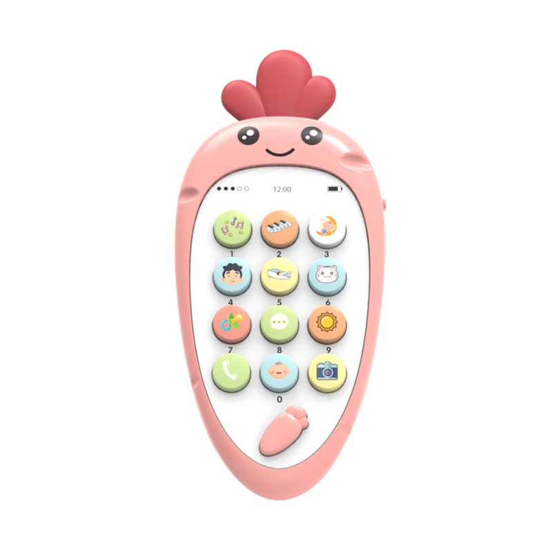 Toy Mobile Phone Soft Plastic Early Education Puzzle Bilingual Infant Safety Can Bite Multi-Function For Brazil VIP