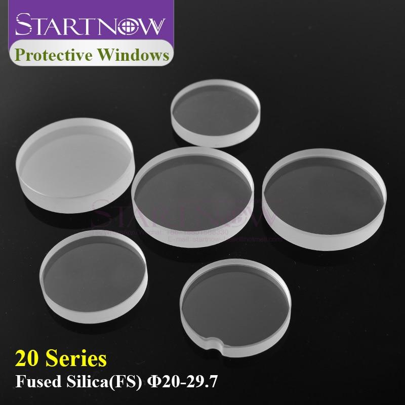 Startnow Fiber Lens For Laser Protection Window WSX 29.7x4.7 20*2 Raytools Laser Cutting Machine Head Parts Protective Windows