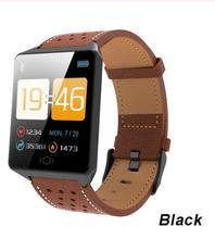 цена Bluetooth Smart Watches For Men Waterproof IP67 Sports Camera Call Leather Fitness Smart Watch Men Women For iPhone Android IOS онлайн в 2017 году