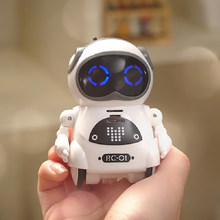 RC Robot 939A Mini Pocket Robots Smart Talking Interactive Dialogue Voice Recognition Record Singing Dancing Telling Story Toy(China)