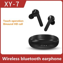 Original xy-7 wireless Bluetooth earphone tws 5.0 smart touch noise canceling Pk i12 i30 i100 i7s tws For Xiaomi apple Android(China)