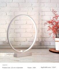 Modern simple style Ring Shape Bedroom Bedside Lamp Multi Function Cozy innovative Reading LED Night Light