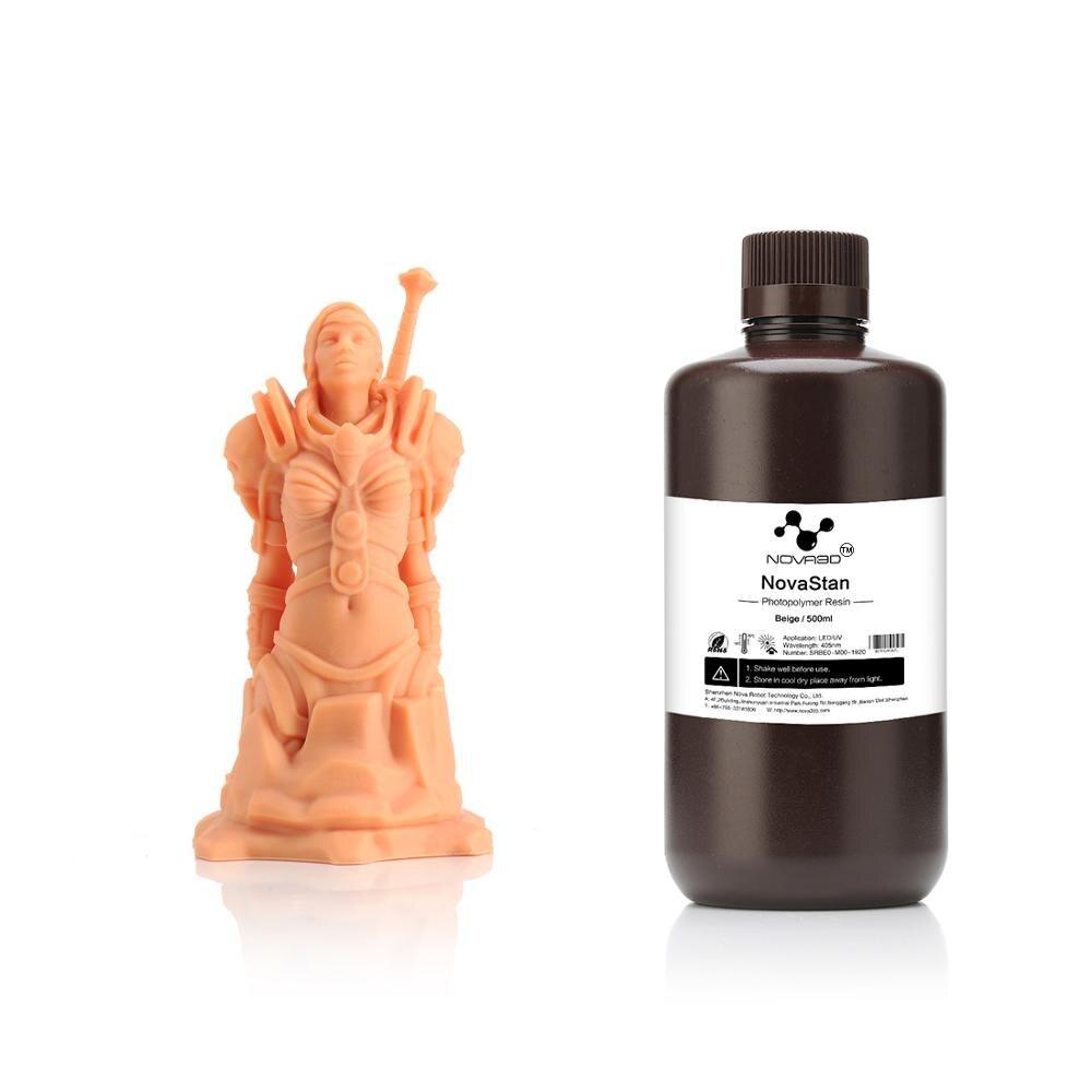 NOVA3D 405nm Beige Color UV Resin 3D Printer High Quality Printing Material LCD DLP UV Sensitive Liquid Photopolymer Dropship