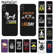 Maiyaca Geen Pijn Super Saiyan Kame House Gym Dragon Ball Z Goku Telefoon Case Voor Iphone 11 Pro 8 7 66S Plus X Xs Max 5S Se 2020 Xr(China)