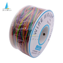 Eine Rolle 8 Farben 30AWG Wire Wrapping Draht Verzinnten Kupfer Feste PVC Isolierung Elektronische Leiter Draht Stecker