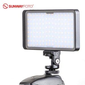 Image 3 - SUNWAYFOTO FL 120 LED lumière vidéo éclairage Photo sur Olympu Pentax DV caméra chaussure chaude réglable LED pour DSLR YouTube studio photo