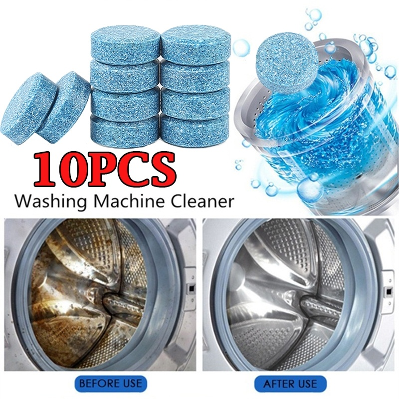 10Pcs Useful Washing Machine Cleaner Descaler Deep Cleaning Machine Laundry Soap Detergent Effervescent Tablet Washer Cleaner 1