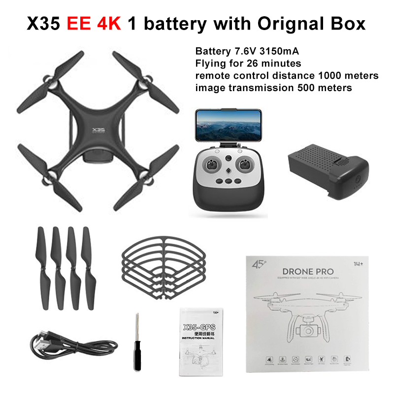 X35 GPS RC Drone 5G WiFi 4K HD Camera Profissional RC Quadcopter Brushless Motor Drones Gimbal Stabilizer 30 Minutes flight