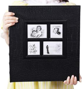 Image 2 - Álbum de fotos para 400 bolsillos, 4x6 fotos, cubierta de cuero, Extra grande, capacidad para boda familiar, aniversario, vacaciones de bebé