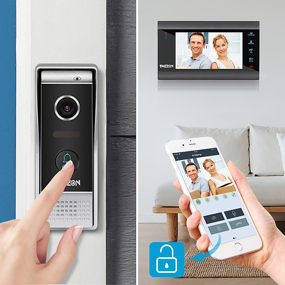 TMEZON Doorbell Intercom-System Phone-Camera Wired Ip-Video Smart Wifi 1x1200tvl Home